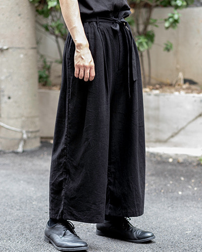 Belt wide linen Pants