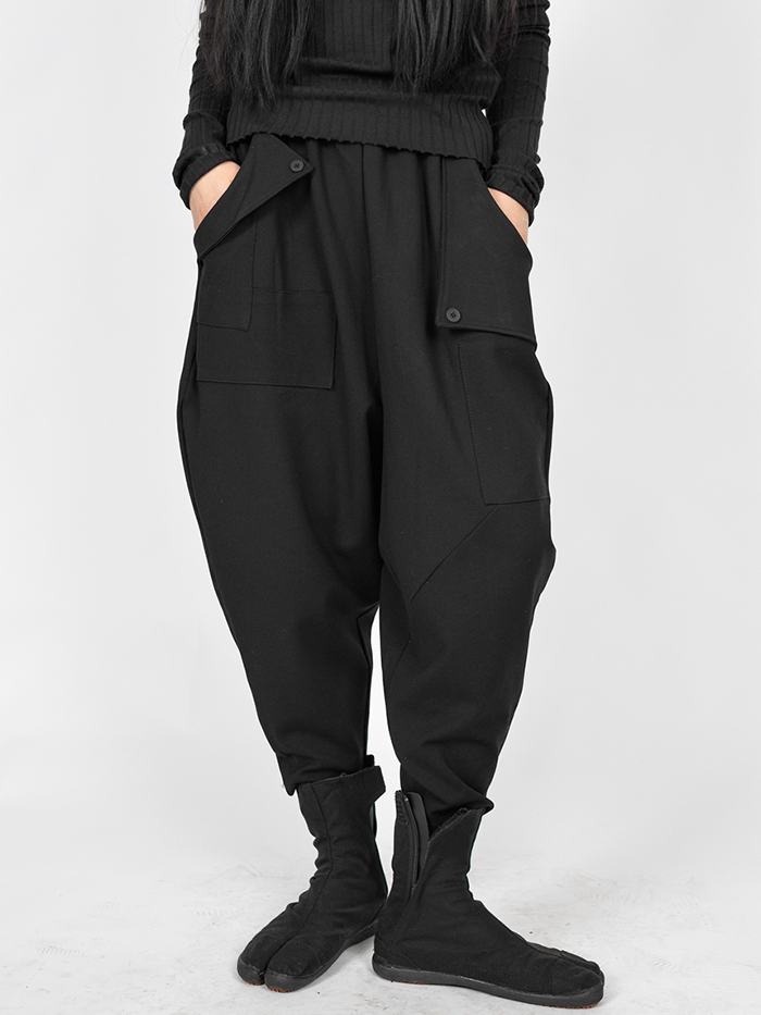 [UNISEX] Pocket button baggy Pants