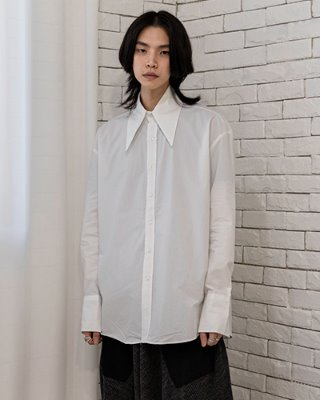 [UNISEX] Wide neck over Shirt