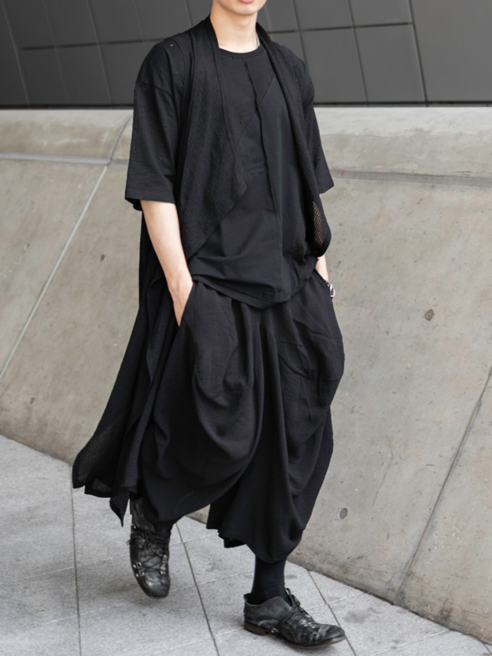 [UNISEX] Layered long silhouette Vest