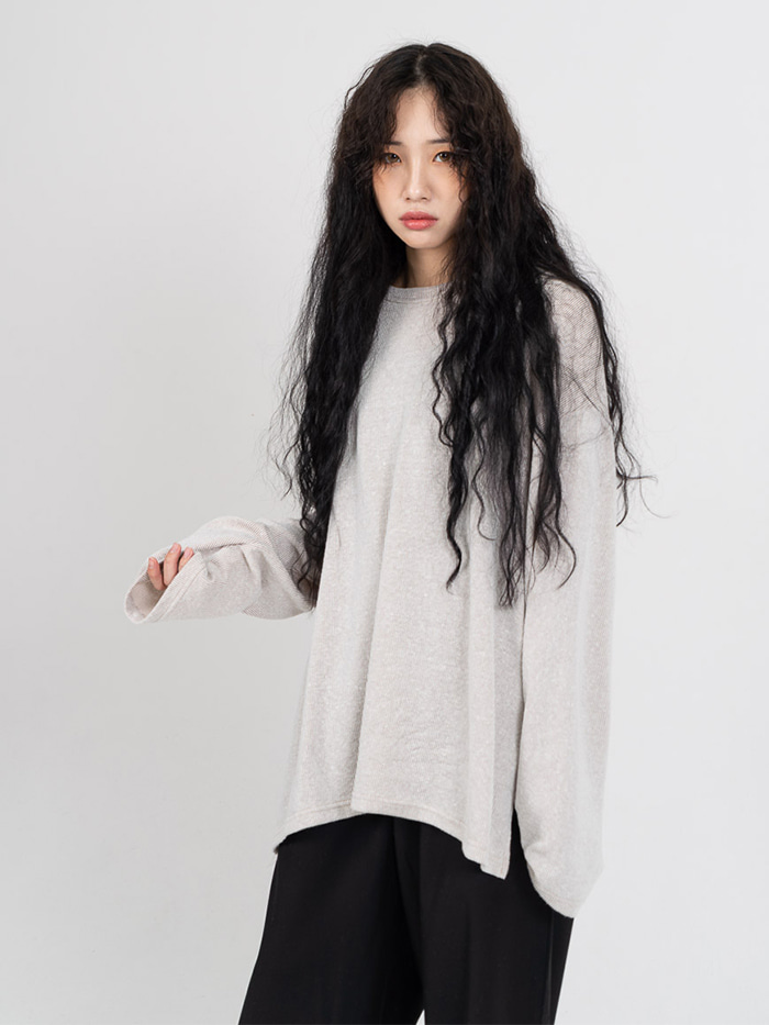 [UNISEX] Side Slit Basic Sleeve T-Shirt