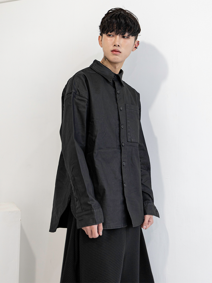 [UNISEX] Matte coating over Jacket-shirt