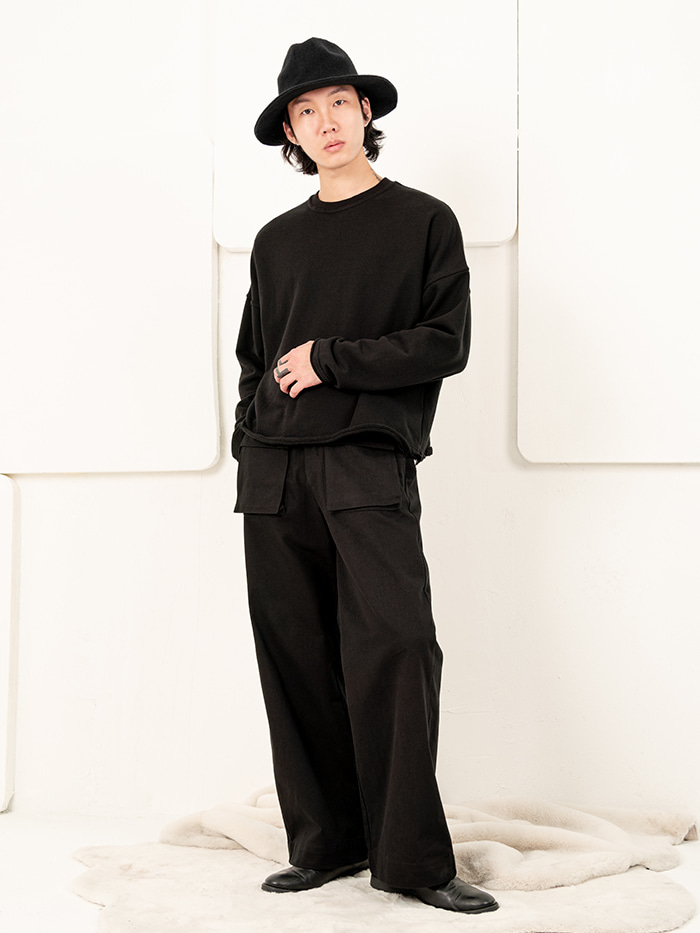 [UNISEX] Two Pocket Wide Pants