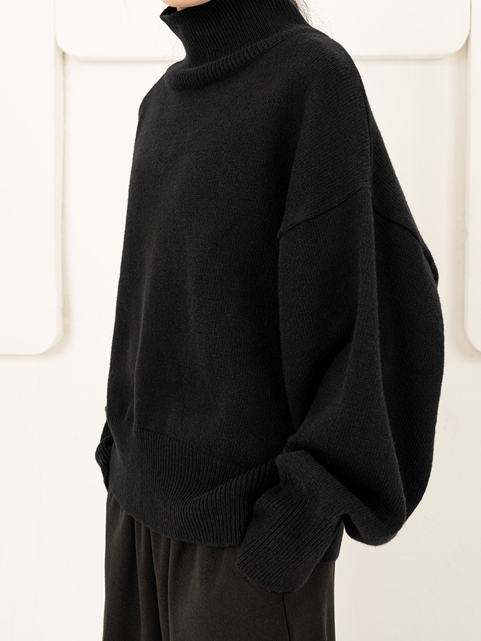 [UNISEX] Warmer High Neck Knit